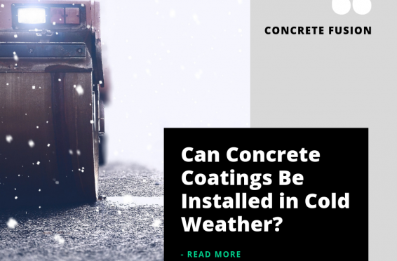 Can you coat polished concrete in cold temperature?