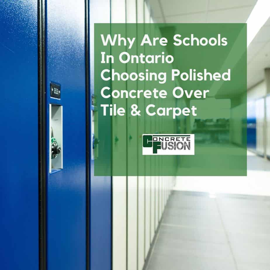 Why Are Schools & Public Facilities Choosing Polished Concrete Over Other Floors?