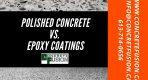 Compare polished concrete and epoxy floor