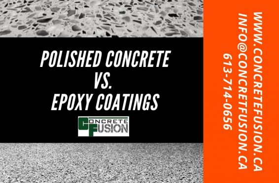 Compare polished concrete and epoxy floor