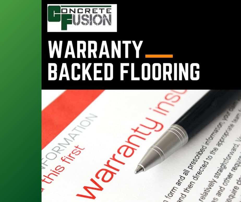 Warrantied Epoxy Concrete Flooring With Guaranteed Results